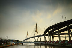Bhumibol Bridge, Bangkok, Thailand Royalty Free Stock Photo