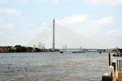 The Bhumibol Bridge in Bangkok Royalty Free Stock Image