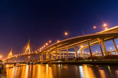 Bhumibol Bridge Royalty Free Stock Photo