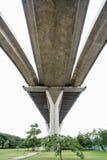 The Bhumibol bridge. This beautiful Bhumibol bridge is located in the capital of Thailand stock image