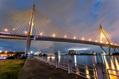 Bhumibol Bridge Stock Photo