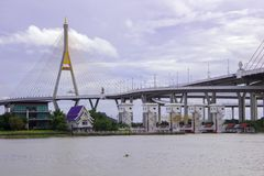Bhumibol Bridge Royalty Free Stock Image