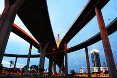 Bhumibol Bridge,the Industrial Ring Bridge Stock Photo