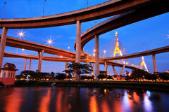 Bhumibol Bridge,the Industrial Ring Bridge Royalty Free Stock Photo