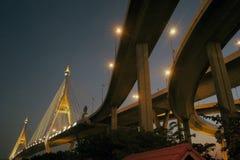 Bhumibol bridge the industrial ring bridge or mega bridge. Royalty Free Stock Image