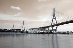 Bhumibol bridge the industrial ring bridge or mega bridge. Royalty Free Stock Photos