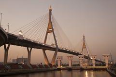 Bhumibol bridge the industrial ring bridge or mega bridge. Stock Photos