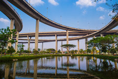 Bhumibol Bridge,the Industrial Ring Bridge or Mega Bridge Royalty Free Stock Image