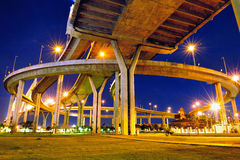 Bhumibol Bridge,the Industrial Ring Bridge or Mega Bridge Royalty Free Stock Photography