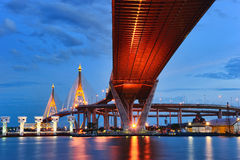 Bhumibol Bridge,the Industrial Ring Bridge or Mega Bridge Royalty Free Stock Photos