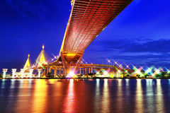 Bhumibol Bridge,the Industrial Ring Bridge or Mega Bridge Stock Photos