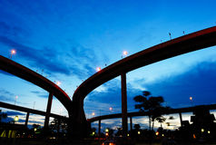 Bhumibol Bridge (the Industrial Ring Road Bridge) Royalty Free Stock Images