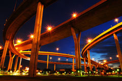 Bhumibol Bridge (the Industrial Ring Road Bridge) Stock Photo