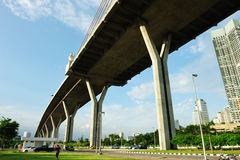 Bhumibol Bridge (the Industrial Ring Road Bridge) Royalty Free Stock Photography