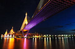 Bhumibol Bridge (the Industrial Ring Road Bridge) Royalty Free Stock Photos