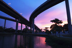 Bhumibol Bridge, The Industrial Ring Road Bridge Royalty Free Stock Image