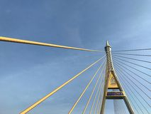 The Bhumibol Bridge or Industrial Ring Road Bridge. The Bhumibol Bridge Royalty Free Stock Photography