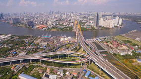 The Bhumibol Bridge Industrial Ring Road Bridge Royalty Free Stock Photos