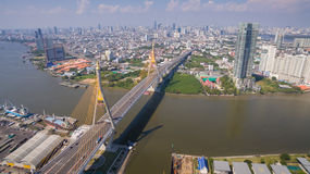 The Bhumibol Bridge Industrial Ring Road Bridge Stock Photography