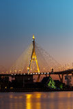 Bhumibol Bridge or Industrial Ring Road bridge Stock Images