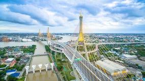 Bhumibol Bridge in Samut Prakan, Thailand Stock Photography