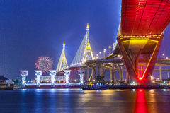 The Bhumibol Bridge Royalty Free Stock Photos