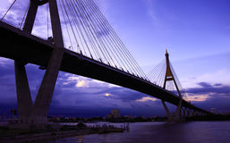 Bhumibol Bridge. Thailand Stock Photo