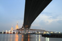 Bhumibol Bridge in Thailand Royalty Free Stock Image