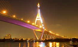 Bhumibol Bridge in Thailand Stock Photo