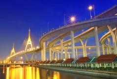 Bhumibol Bridge in Thailand Stock Images