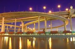 Bhumibol Bridge in Thailand Stock Photo