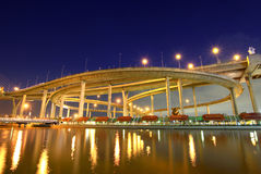 Bhumibol Bridge in Thailand Royalty Free Stock Images
