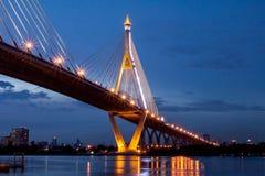 Bhumibol Bridge in Thailand Royalty Free Stock Image