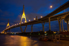 Bhumibol Bridge of Thailand Royalty Free Stock Image