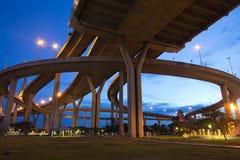 Bhumibol Bridge of Thailand Royalty Free Stock Image