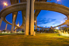 Bhumibol Bridge of Thailand Stock Photography