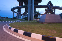 Bhumibol Bridge of Thailand Stock Photos
