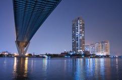 Bhumibol Bridge in Thailand Stock Image