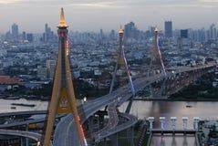 Bhumibol Bridge in Thailand Stock Photography