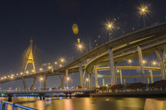 Bhumibol Bridge in Thailand Stock Photography