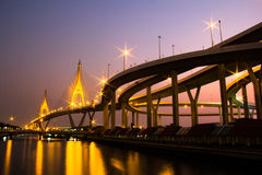 Bhumibol Bridge in Thailand Stock Image