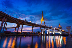 The Bhumibol Bridge,Thailand Stock Image