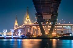 Bhumibol Bridge in Thailand. Stock Photography