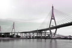 Bhumibol bro den industriella cirkelbron eller mega bro Royaltyfria Bilder