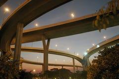 Bhumibol bro den industriella cirkelbron eller mega bro Fotografering för Bildbyråer