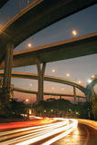 Bhumibol bro den industriella cirkelbron eller mega bro Royaltyfri Bild