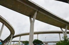 Bhumibol bro eller industriella Ring Road Royaltyfria Bilder