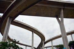 Bhumibol bro eller industriella Ring Road Arkivbilder