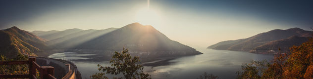 Bhumibol Dam Panorama Royalty Free Stock Images