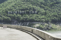 Bhumibol Dam the power of water , tak thailand. Stock Images